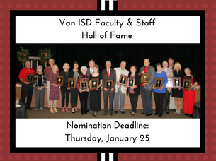 VISD Faculty & Staff Nominations Due